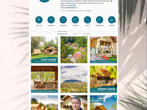 Lodge Holidays social media branding & management